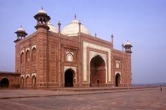 Moschee bei Taj Mahal Stockbild