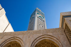 Moschee Casablanca Hassan-II Stockfotografie