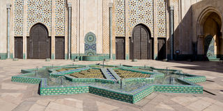 Moschee Casablanca Hassan-II Stockfotos