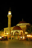 Moschee in der Nacht Stockfotografie