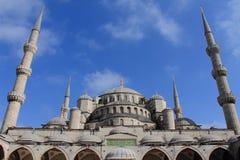 Moschee der weißen blauen Steinmoschee Lizenzfreie Stockfotos