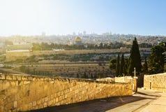 Moschee des Kalifs Omar in Jerusalem. Stockfoto