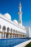 Moschee des Scheichs Zayed in Abu Dhabi Lizenzfreies Stockfoto
