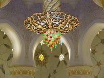 Moschee des Scheichs Zayed in Abu Dhabi nach innen Lizenzfreies Stockbild