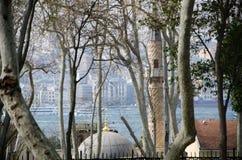 Moschee, die Bosphorus übersieht lizenzfreie stockbilder