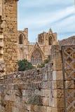 Moschee, gotisches St. Nicholas Cathedral in Famagusta, Nord-Zypern Stockbild
