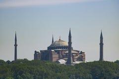 Moschee Hagia Sophia im Abstand lizenzfreie stockfotos