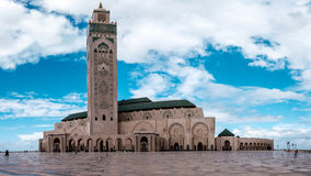 Moschee Hassan-II in Casablanca Stockbilder