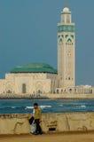 Moschee Hassan II in Casablanca, Marokko Lizenzfreies Stockbild