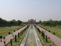 Moschee im Gebiet Taj Mahal, Indien stockfoto