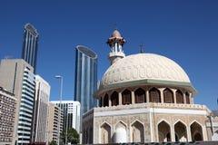 Moschee im Stadtzentrum gelegen in Abu Dhabi Stockbild