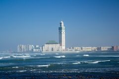 Moschee König-Hassan II, Casablanca, Marokko Lizenzfreie Stockfotografie