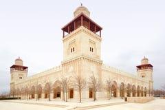 Moschee Königs Hussein Bin Talal in Amman stockbilder