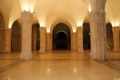 Moschee Königs Hussein Bin Talal in Amman (nachts), Jordanien Lizenzfreie Stockfotografie