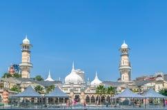 Moschee Masjid Jamek, die im Herzen Kuala Lumpur-Stadt sich befindet Lizenzfreie Stockfotos