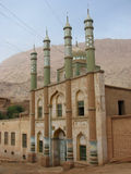 Moschee an Mazar-Dorf in Tuyu-Tal China lizenzfreie stockfotografie
