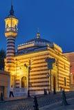 Moschee mit den roten und weißen Streifen Lizenzfreie Stockfotos