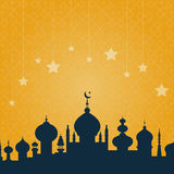 Moschee mit Verzierung lizenzfreie abbildung