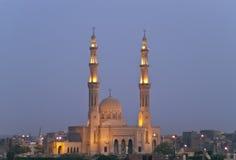 Moschee nachts Stockbild