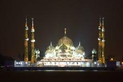 Moschee nachts Stockfotos
