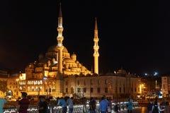 Moschee nachts stockfotografie