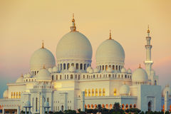 Moschee am Sonnenuntergang Lizenzfreie Stockbilder