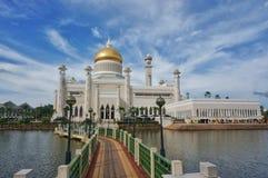 Moschee Sultanomar-Ali Saifuddin Stockbild