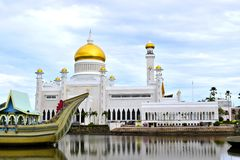 Moschee Sultanomar-Ali Saifuddin Stockfotos