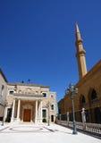 Moschee und Kirche, Beirut der Libanon Stockfotografie