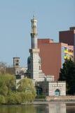 Moschee und Pumpstation Stockfotos