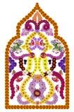 Moschee von den Blumen Stockfotografie