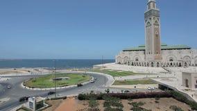 Moschee von Hassan II in Casablanca stock footage