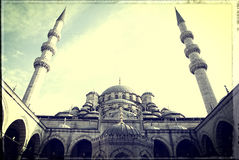 Moschee - Weinlese stockbilder
