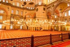 Moscheeinnenarchitektur in Istanbul, die Türkei stockfotos