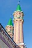 Moscheenminaretts Tynychlyk stockfoto
