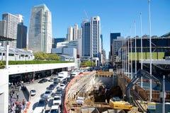 Moscone中心的,旧金山扩展建筑2017年 库存图片