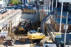 Moscone中心的,旧金山扩展建筑2017年 库存照片