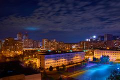 Moscou, éclairage de nuit Image stock