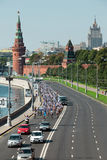Place rouge de tour de vélo de charité Image libre de droits