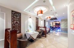 MOSCOU - AOÛT 2014 : Intérieur de restaurant chinois de cuisine Image stock