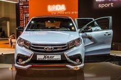 MOSCOU - AOÛT 2016 : Le concept de rayon X de VAZ LADA a présenté chez MIAS Moscow International Automobile Salon le 20 août 2016 Images libres de droits