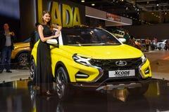 MOSCOU - AOÛT 2016 : Le concept de VAZ Lada XCode a présenté chez MIAS Moscow International Automobile Salon le 20 août 2016 à Mo Images stock
