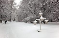 Moscou après des chutes de neige. La Russie. Photos libres de droits