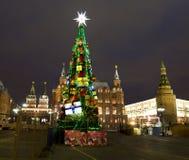 Moscou, arbre de Noël Photos stock