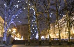 Moscou, arbre de Noël Photos libres de droits