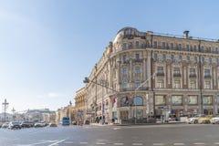 moscou Carrefours des rues de Tverskaya et de Mokhovaya photo stock