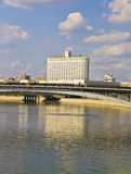 Moscou, construction de logements blanche du gouvernement russe Images libres de droits