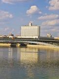 Moscou, construction de logements blanche du gouvernement russe Image libre de droits