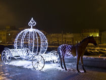 Moscou, décoration de Noël Image libre de droits