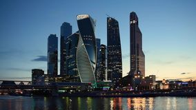 MOSCOU - 4 de agosto de 2016: Centro de negócios do International de Moscou video estoque